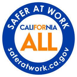 Safer At Work - California For All logo